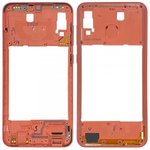 Samsung Galaxy A20 A205 - Middle Plate Frame Coral Orange
