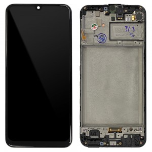 Samsung Galaxy M21 M215F - Full Front LCD Digitizer with Frame Black < Service Pack >