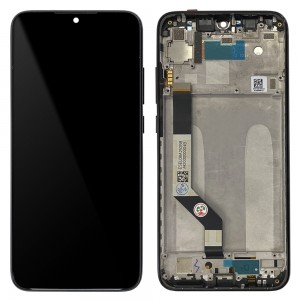 Xiaomi Redmi Note 7 / Note 7 Pro - Full Front LCD Digitizer with Frame Black