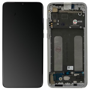 Xiaomi Mi 9 Lite - Full Front LCD/OLED Digitizer With Frame Pearl White
