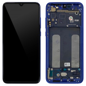 Xiaomi Mi 9 Lite - Full Front LCD/OLED Digitizer With Frame Aurora Blue