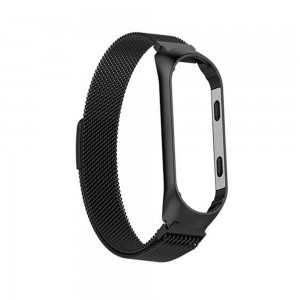 Xiaomi Smart Band 5 - Milanese Magnetic Loop Stainless Steel Watch Band Black