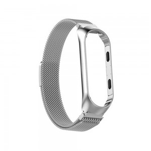 Xiaomi Smart Band 5 - Milanese Magnetic Loop Stainless Steel Watch Band Silver