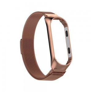 Xiaomi Smart Band 5 - Milanese Magnetic Loop Stainless Steel Watch Band Gold