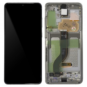 "Samsung Galaxy S20+ G985 / S20+ 5G G986 - Full Front LCD Digitizer Cloud White ""Service Pack"""