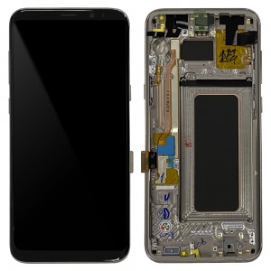 """Samsung Galaxy S8 Plus G955F - Full Front LCD Digitizer With Frame Maple Gold """" Service Pack """""""