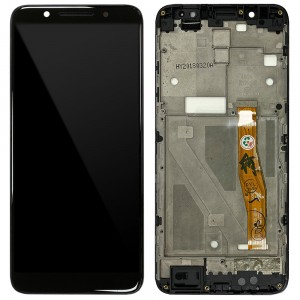 Alcatel 3x (2018) - Full Front LCD Digitizer with Frame Black