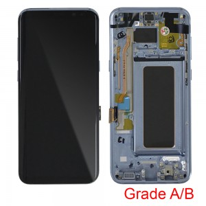 Samsung Galaxy S8 Plus G955F - Full Front LCD Digitizer With Frame Orchid Gray (Original Used Grade A/B)