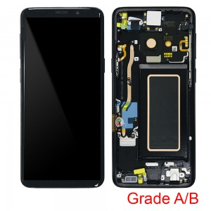 Samsung Galaxy S9 G960F - Full Front LCD Digitizer With Frame Black (Original Used Grade A/B)