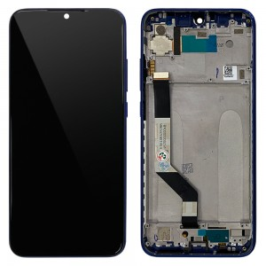 Xiaomi Redmi Note 7 / Note 7 Pro - Full Front LCD Digitizer with Frame Blue