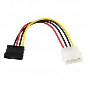 4 Pin IDE Molex Male to 15 Pin Serial SATA Hard Drive Adapter Power Cable