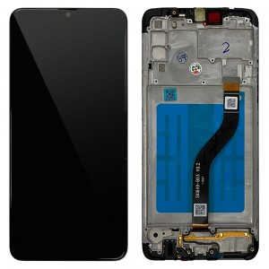 Samsung Galaxy A20s A207 - Full Front LCD Digitizer With Frame Black < Service Pack >