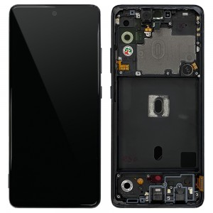 Samsung Galaxy A51 5G A516 - Full Front LCD Digitizer Black < Service Pack >
