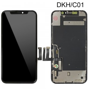 iPhone 11 - Full Front LCD Digitizer (Original Remaded) Black (Comp. DKH/C01)