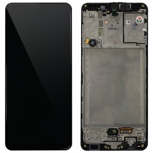 Samsung Galaxy A31 A315F - Full Front LCD Digitizer With Frame Black < Service Pack >