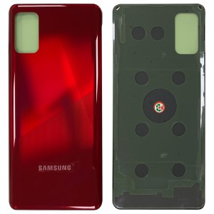 Samsung Galaxy A41 A415F - Battery Cover with Camera Lens & Adhesive Prism Crush Red