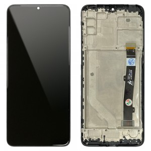 Alcatel 3x (2019) - Full Front LCD Digitizer with Frame Black