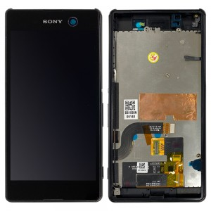 Sony Xperia M5 E5603 E5606 E5653 - Full Front LCD Digitizer With Frame Gold < Service Pack >