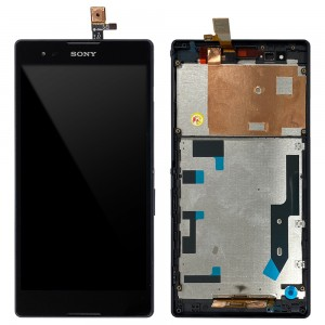 Sony Xperia T2 Ultra - Full Front LCD Digitizer With Frame Black