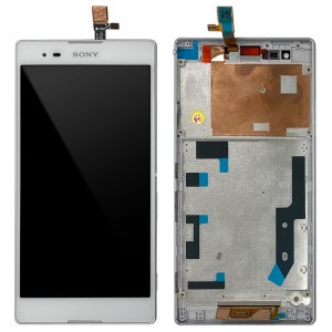 Sony Xperia T2 Ultra - Full Front LCD Digitizer With Frame White