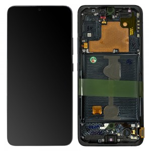 Samsung Galaxy A90 5G A908B - Full Front LCD Digitizer with Frame Black < Service Pack >