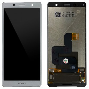 Sony Xperia XZ2 Compact H8324 / H8314 - Full Front LCD Digitizer White Silver