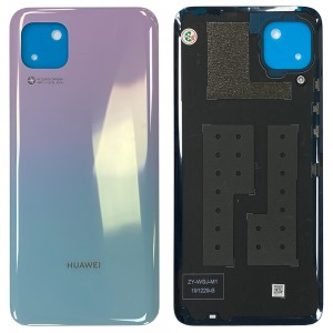 Huawei P40 Lite - Battery Cover with Adhesive Light Pink/Blue