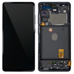 Samsung Galaxy S20 FE G780 - Full front LCD Digitizer With Frame Blue < Service Pack >