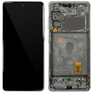 Samsung Galaxy S20 FE G780 - Full front LCD Digitizer With Frame White < Service Pack >