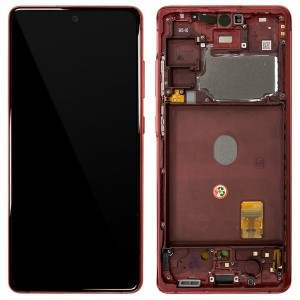 Samsung Galaxy S20 FE G780 - Full front LCD Digitizer With Frame Red < Service Pack >