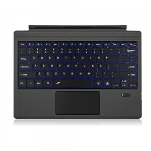 Microsoft Surface Pro 3 / 4 / 5 / 6 / 7   - Compatible Bluetooth Keyboard Cover with Backlight US Layout