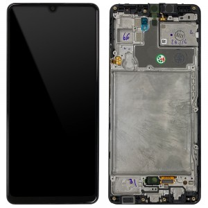Samsung Galaxy A42 5G A426 - Full Front LCD Digitizer Black With Frame < Service Pack >