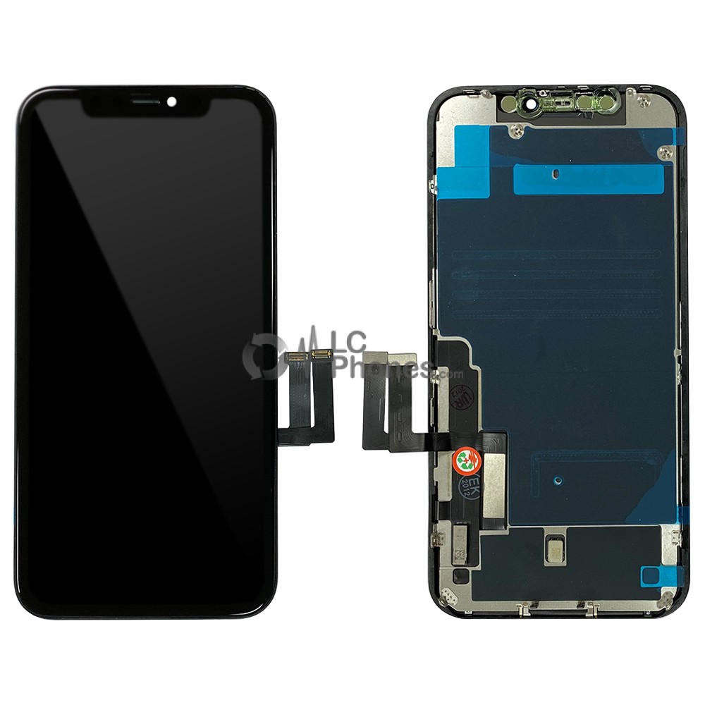 iPhone 11 - Full Front TFT LCD Digitizer Black With Back Plate In-Cell