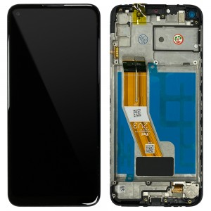 Samsung Galaxy M11 M115F - Full Front LCD Digitizer Black < Service Pack >