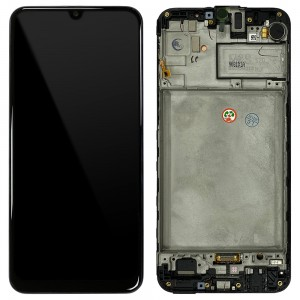 Samsung Galaxy M30s M307F - Full Front LCD Digitizer Black < Service Pack >