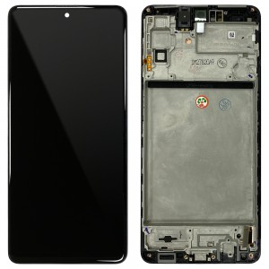 Samsung Galaxy M51 M515F - Full Front LCD Digitizer Black < Service Pack >