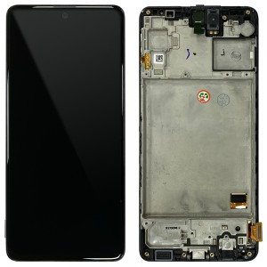 Samsung Galaxy M31s M317F - Full Front LCD Digitizer Black < Service Pack >