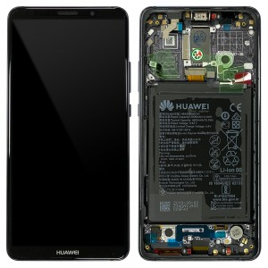 Huawei Mate 10 Pro - Full Front LCD Digitizer Titanium Gray with Frame & Battery < Service Pack >