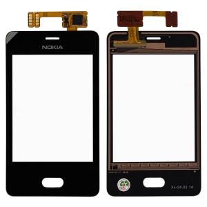 Nokia Asha 501 - Vidro Touch Screen Preto