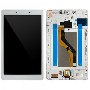 Samsung Galaxy Tab A 8.0 2019 T290 - Full Front LCD Digitizer With Frame White < Service Pack >