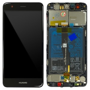 Huawei Nova - Full Front LCD Digitizer Black with Frame & Battery < Service Pack >