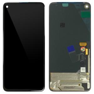 Google Pixel 4a 5G - Full Front LCD / OLED Digitizer Black < Service Pack >