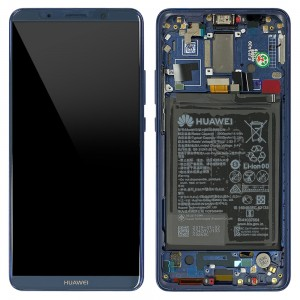 Huawei Mate 10 Pro - Full Front LCD Digitizer Midnight Blue with Frame & Battery < Service Pack >