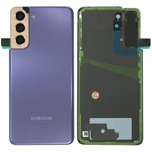 Samsung Galaxy S21 G990 / S21 5G G991 - Battery Cover Original with Camera Lens and Adhesive Phantom Violet < Service Pack >