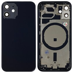 iPhone 12 Mini - Back Housing Cover with Buttons Black