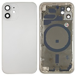 iPhone 12 Mini - Back Housing Cover with Buttons White