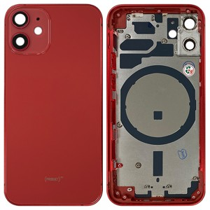 iPhone 12 Mini - Back Housing Cover with Buttons Red