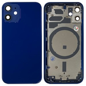 iPhone 12 Mini - Back Housing Cover with Buttons Blue