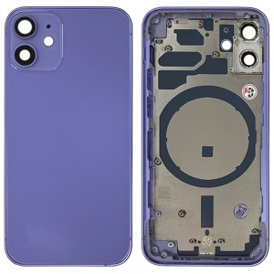 iPhone 12 Mini - Back Housing Cover with Buttons Purple