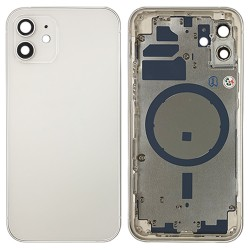 iPhone 12 - Back Housing Cover with Buttons White